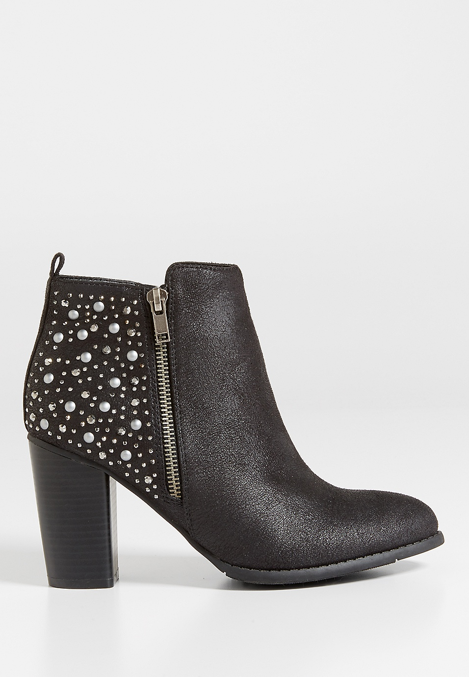 f303f5eba11c0 brandy embellished heeled bootie