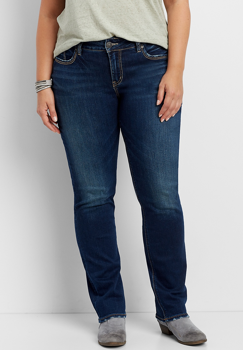 6db636cf Silver Jeans Co.® Avery plus size straight leg jeans   maurices