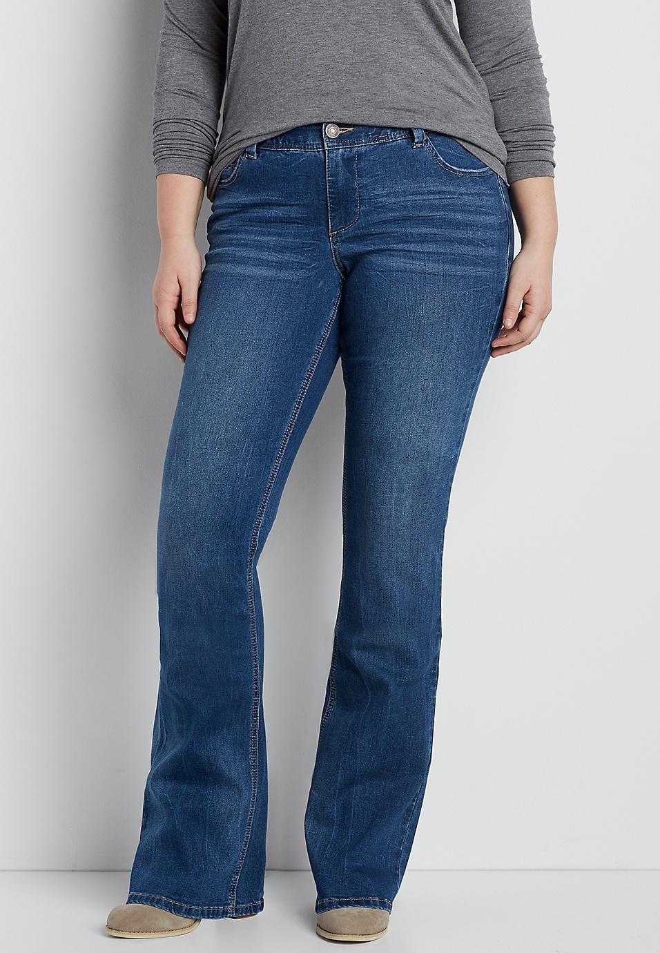 d5bffe789c0d2 DenimFlex™ plus size flare jeans in dark wash