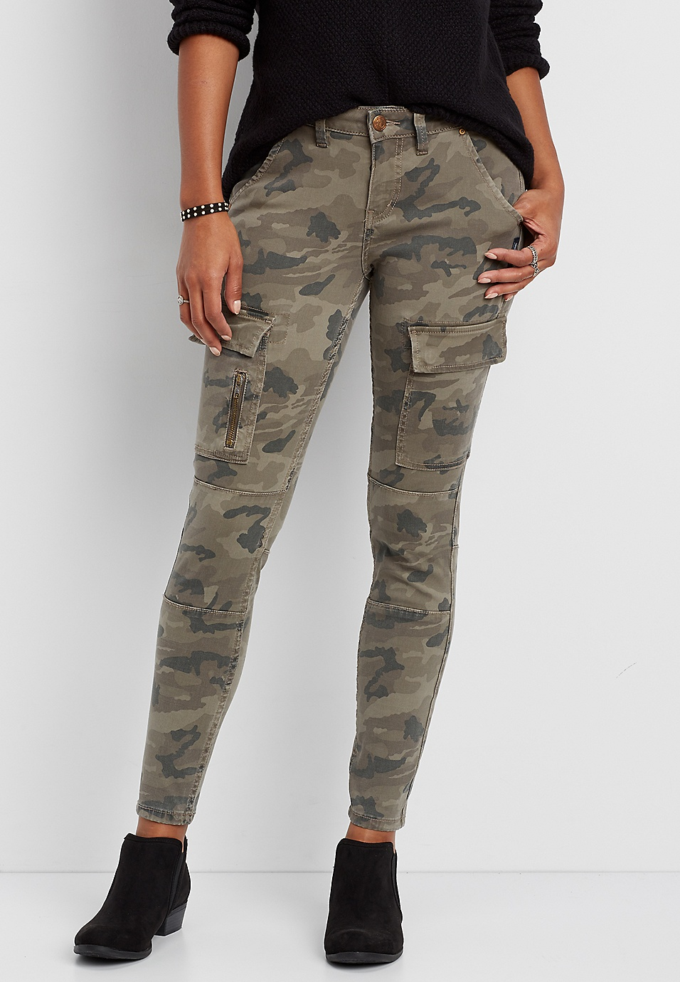 dd55cdea Silver Jeans Co.® camo skinny cargo jeans | maurices