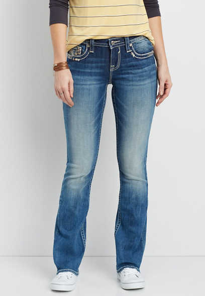 Vigoss® slim boot jeans with embellished double back pockets