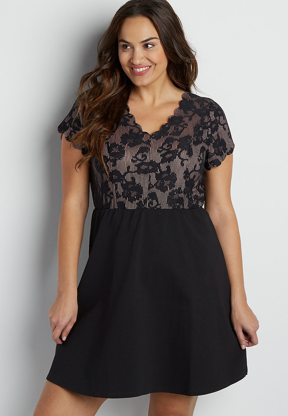 plus size dress with floral top | maurices