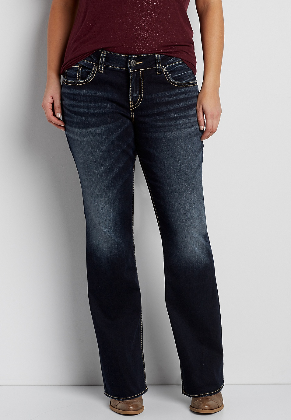 8f656f73a2e Silver Jeans Co.® plus size Elyse slim boot jeans