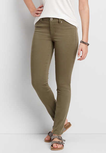 DenimFlex™ jegging in ultimate olive