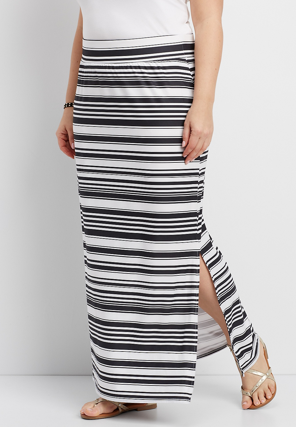 bcdb72034a Long Black And White Striped Maxi Skirt | Huston Fislar Photography