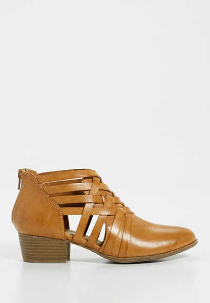 Diana faux leather strappy bootie