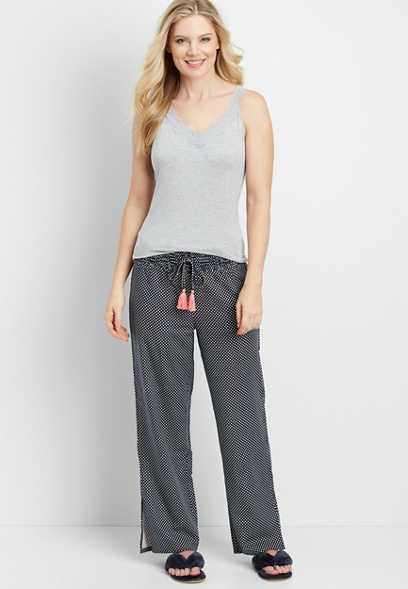 flannel polka dot sleep pant