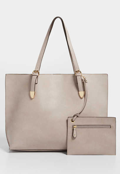 faux leather oversize tote