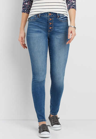 DenimFlex™ high rise button fly jegging