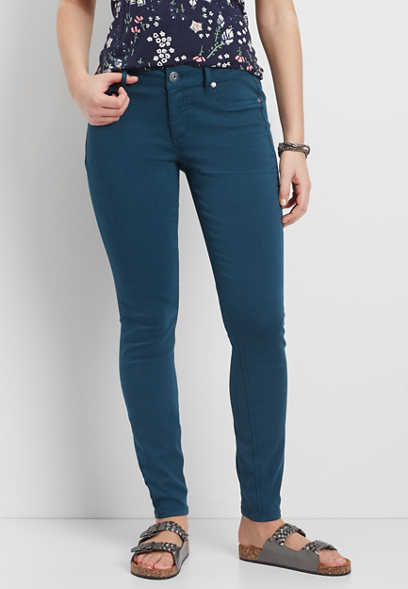 DenimFlex™ jegging in rich teal