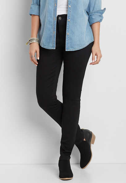 DenimFlex™ high rise jegging in black