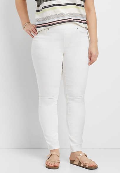 944af349ab54e DenimFlex™ plus size pull on jegging in white