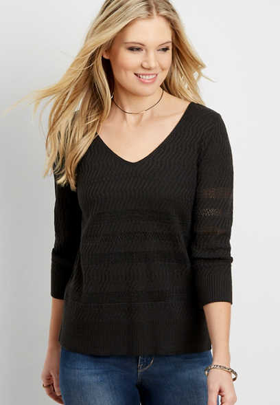 lightweight pullover sweater with tie back