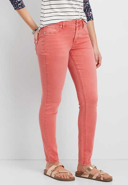 DenimFlex™ jegging in coral dust
