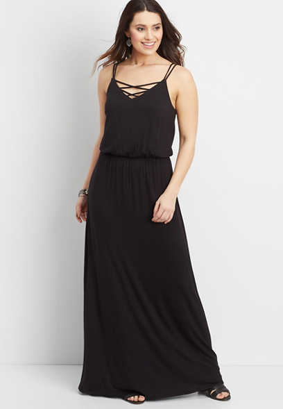 24/7 maxi dress with strappy neckline