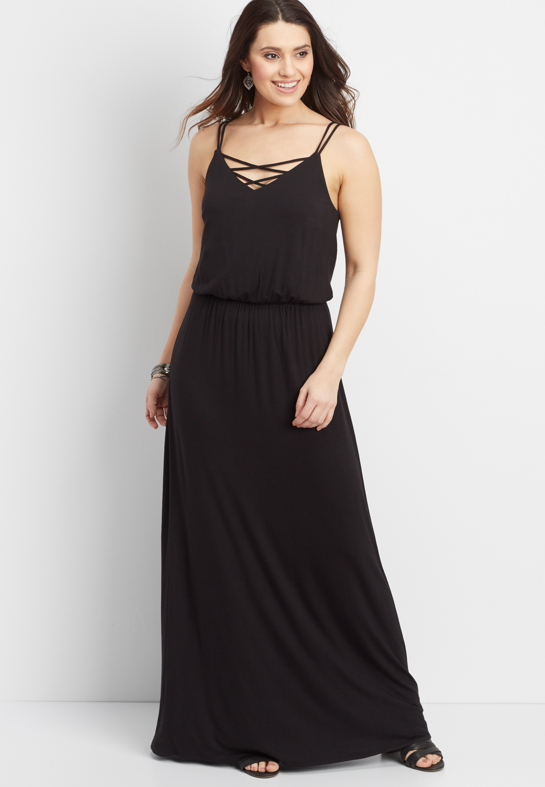 24/7 Strappy Neck And Back Shirtdress Maurices