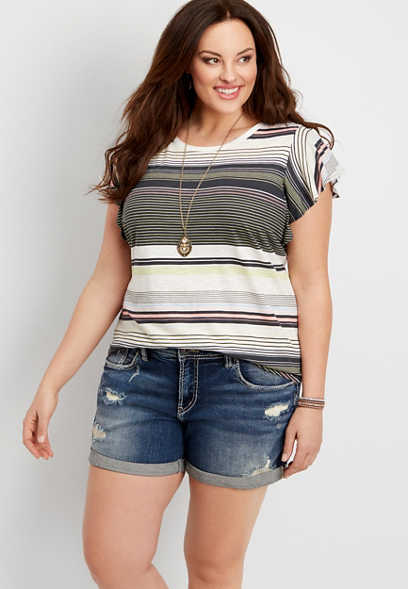 83f2cf7e6e2 plus size Silver Jeans Co.® Sam slouchy boyfriend shorts