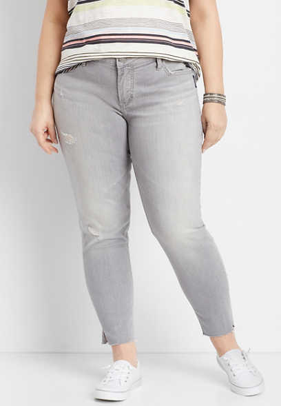 plus size Silver Jeans Co.® Aiko gray ankle skinny jean