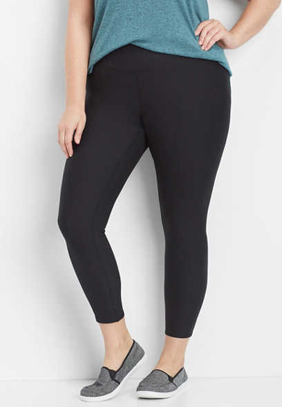 plus size mid rise 7/8 active legging