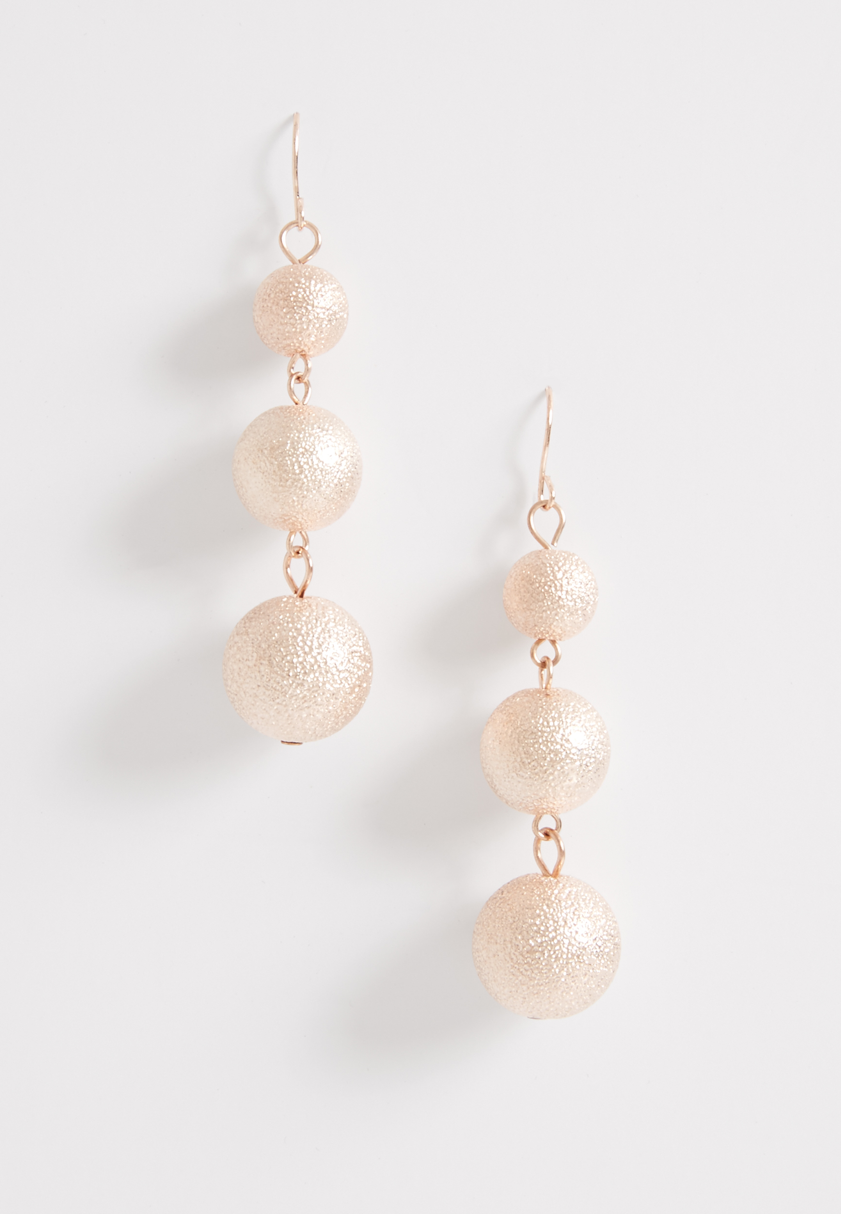 Maurices Rose Gold Tone Drop Earrings zTRlC