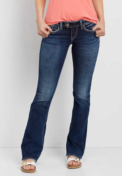 Silver Jeans Co. ® Tuesday slim boot dark wash jean