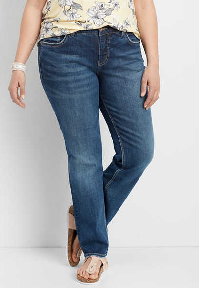 Silver Jeans Co® Suki plus size straight leg jean