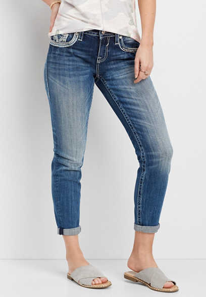 Vigoss ® medium wash cropped jean