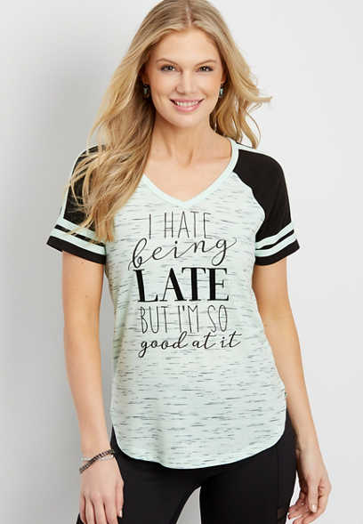 I hate being late graphic tee