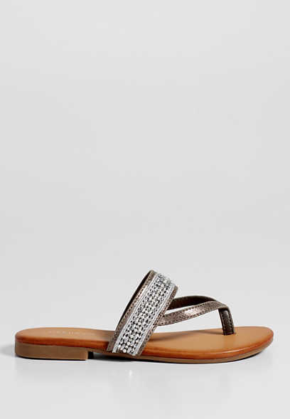 Skylar beaded thong sandal