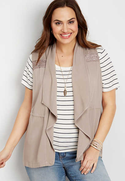 Plus Size - Eyelet Jacket With Cinch Waist Maurices