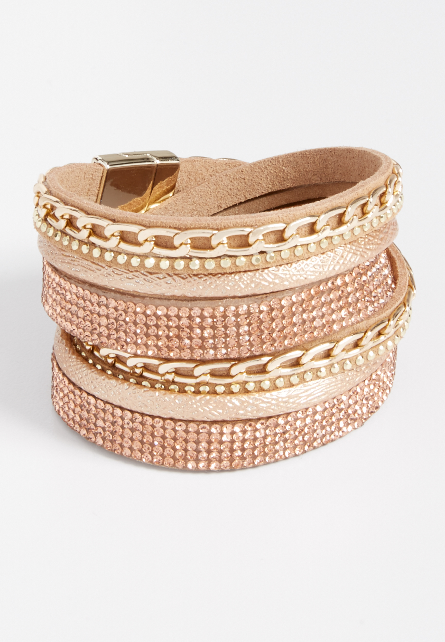 Maurices Layered Rhinestone Magnetic Bracelet