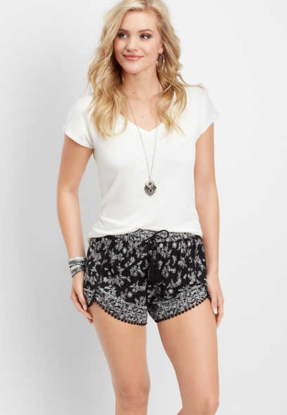envelope floral soft short