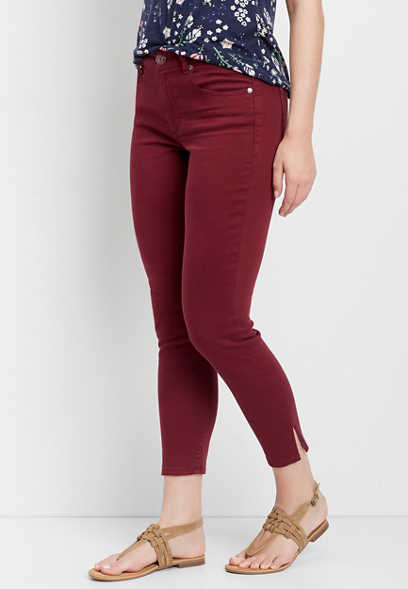DenimFlex™ red amber cropped jegging