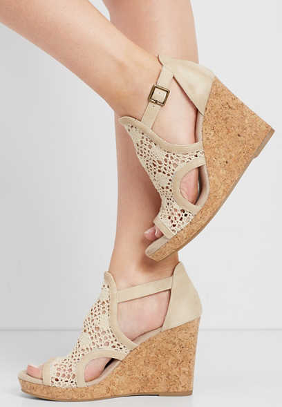 Julia crochet front wedge