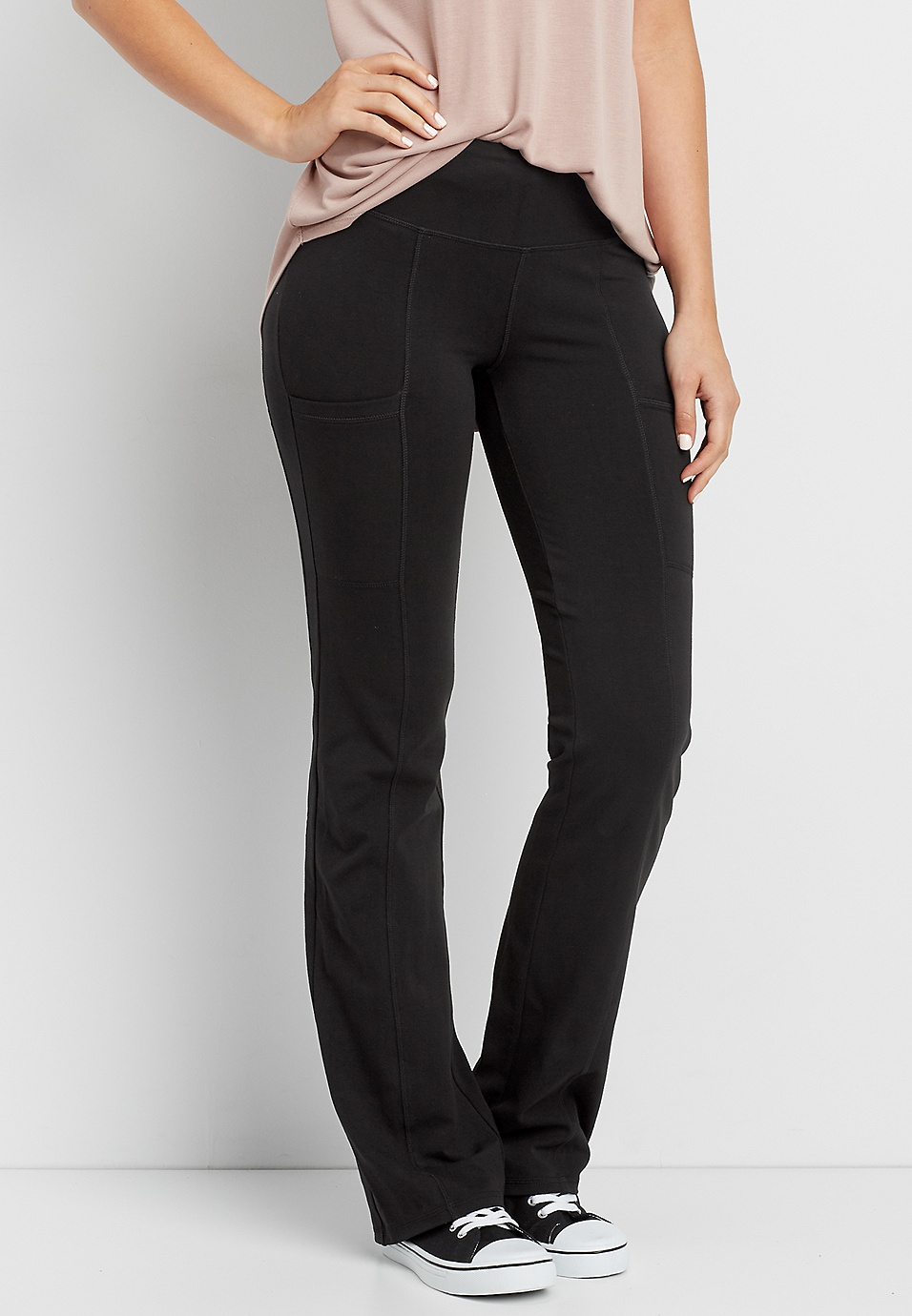 e857317c3c bootcut yoga pant with side pockets | maurices