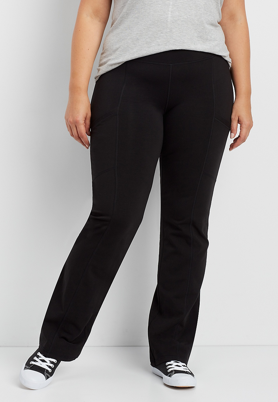 4db60699a3 plus size bootcut yoga pant with side pockets | maurices