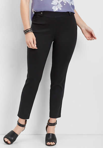 pull on bengaline notch hem pant