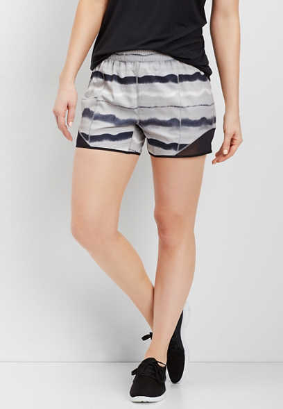 watercolor stripe active short