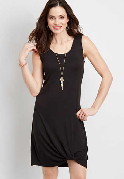 24/7 knot front shirtdress