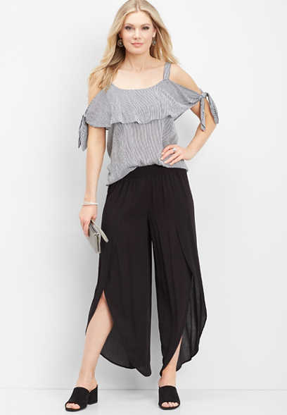 pull on black fly away pant