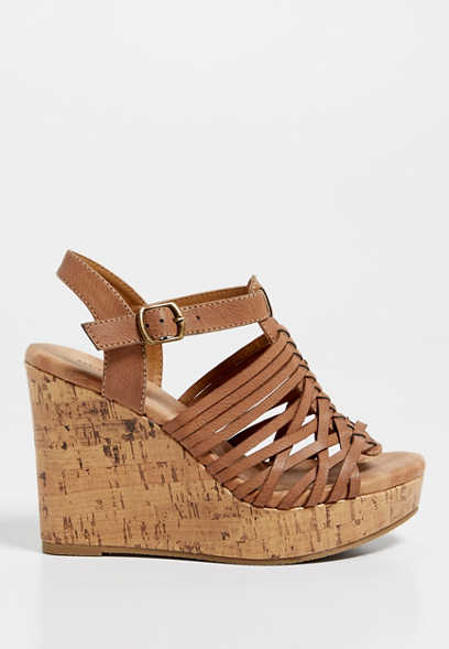 Jennifer woven front wedge