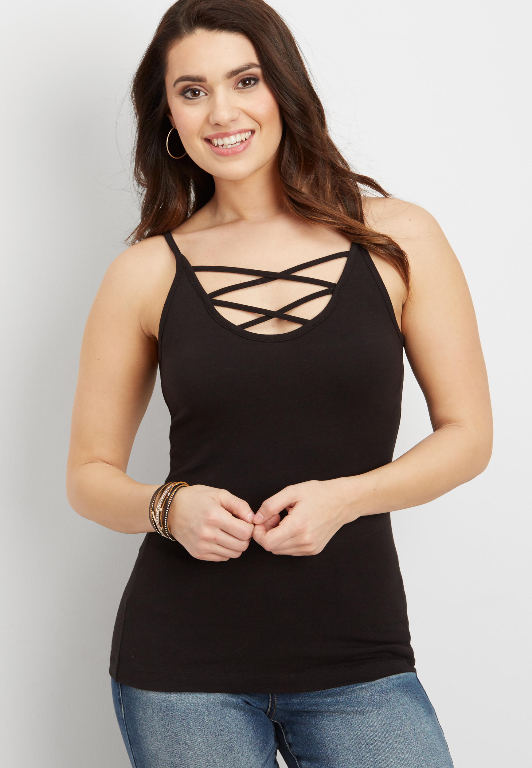 Strappy Neck Cami @...