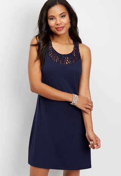 24/7 knot detail tank dress