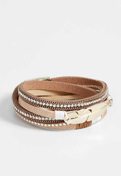 Maurices Studded Magnetic Bracelet With Leaf PbCh7moZ