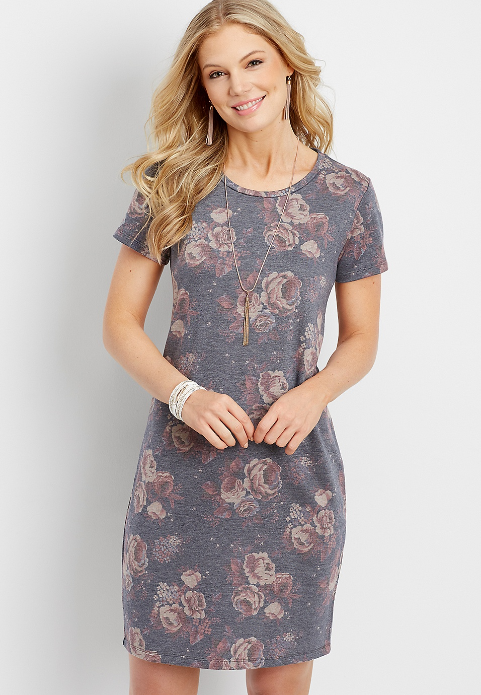 fd5aa6752a4 washed floral t-shirt dress