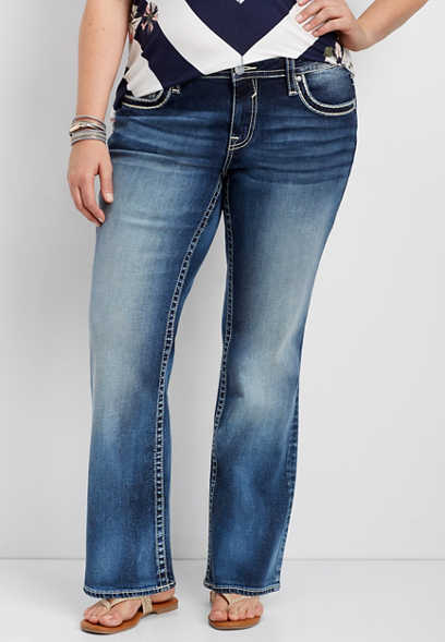 plus size Vigoss® dark wash boot cut jean