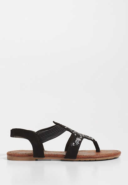 Shiloh embroidered front sandal