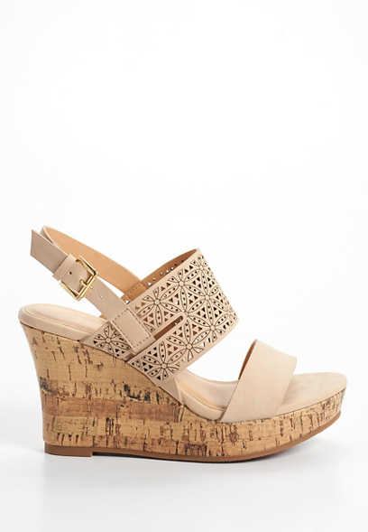 Joan flower laser cut wedge