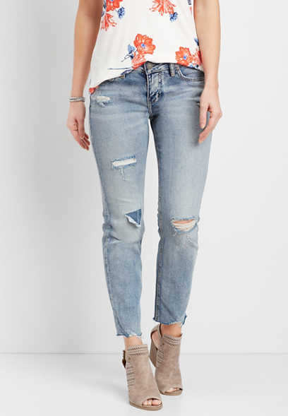Silver Jeans Co.® Suki destructed medium wash jean