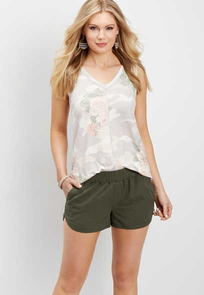 pull on forest fern short
